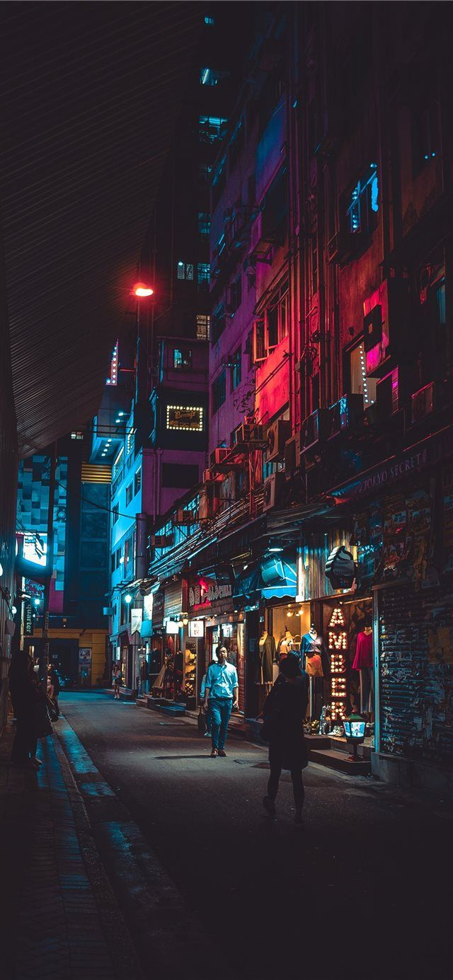 Night in Hong Kong iPhone X Wallpapers Iphone wallpaper