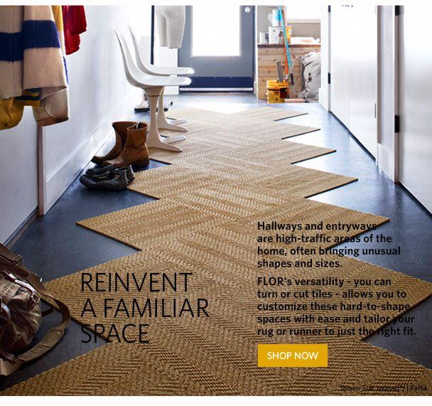 Flor Carpet Tiles On The Diagonal