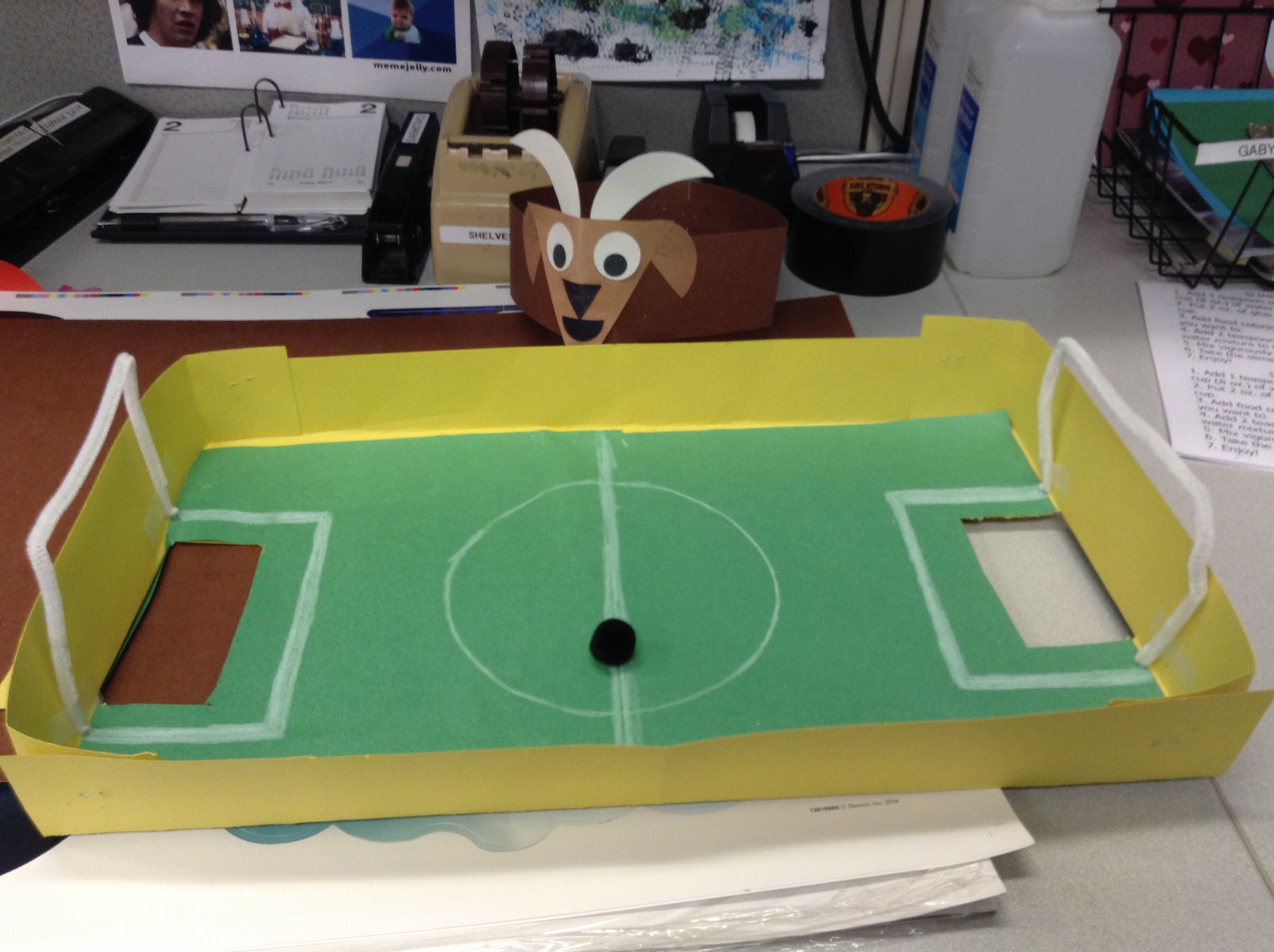 Make your own craft table - Soccer Craft Make Your Own Soccer Field
