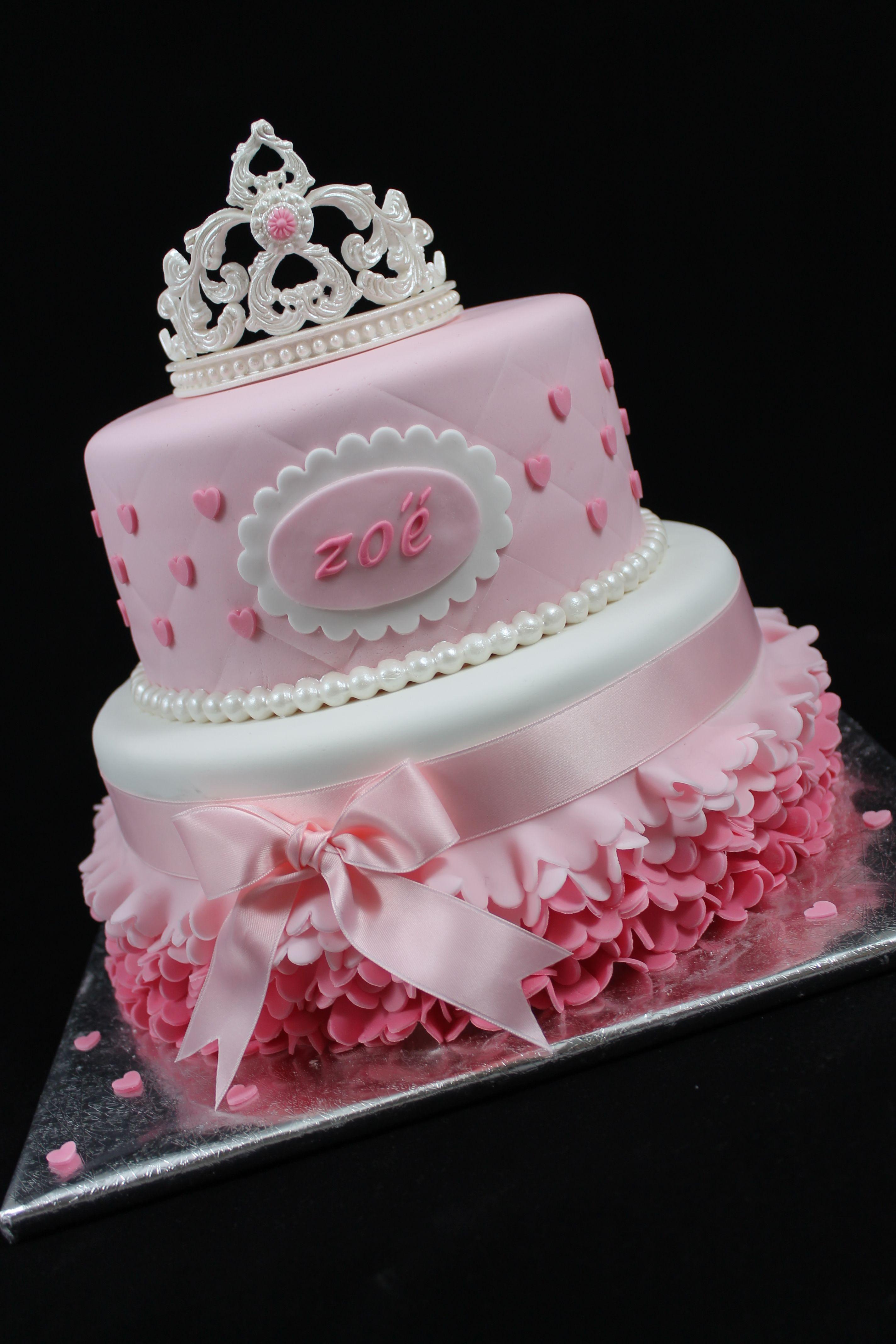 Princess Cake With Handmade Tiara