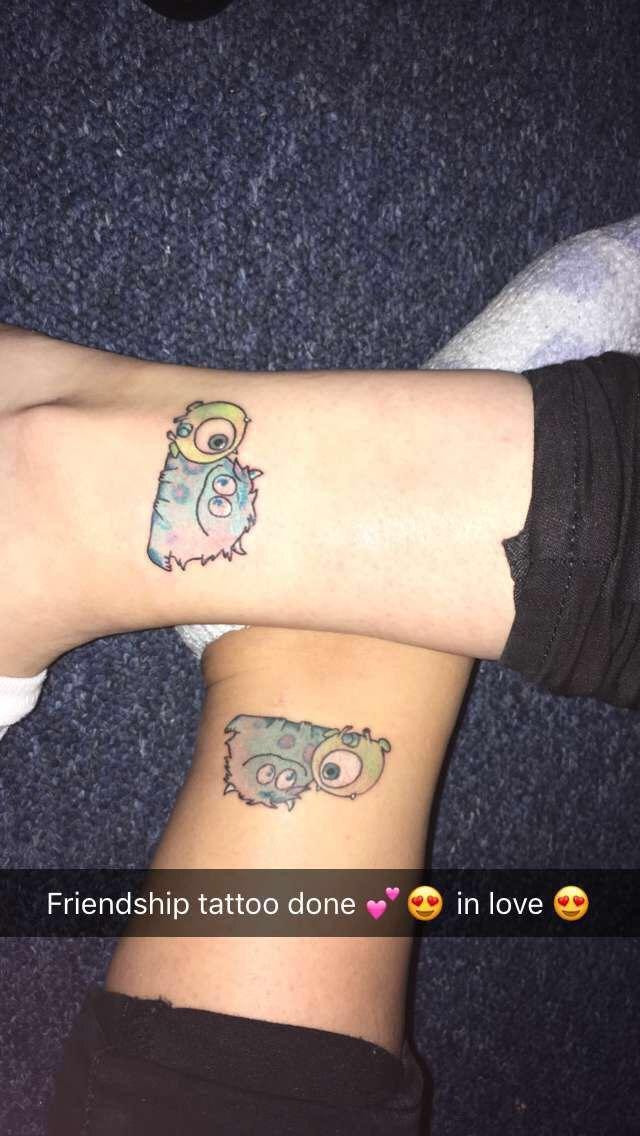 Disney Best Friend Tattoos : disney, friend, tattoos, Friendship, Tattoo, #friends, #tattoo, #disney, #monsterinc, #pixar, #solly, #mike, #monster, #fr…, Tattoos,, Matching, Friend, Tattoos
