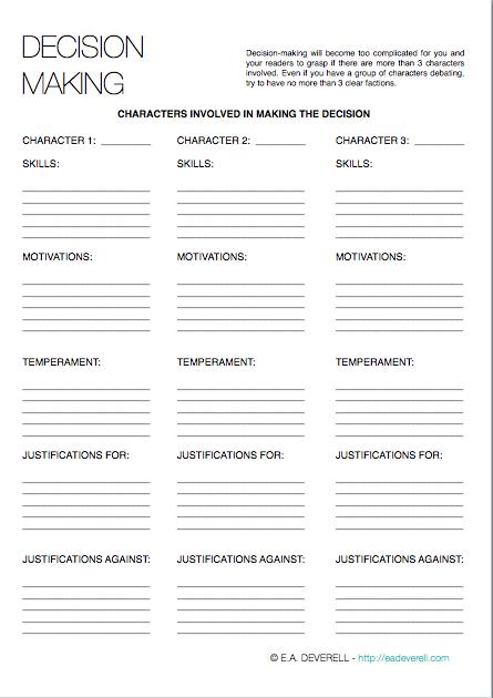 Decision Making (Writing Worksheet Wednesday)   Writing worksheets ...