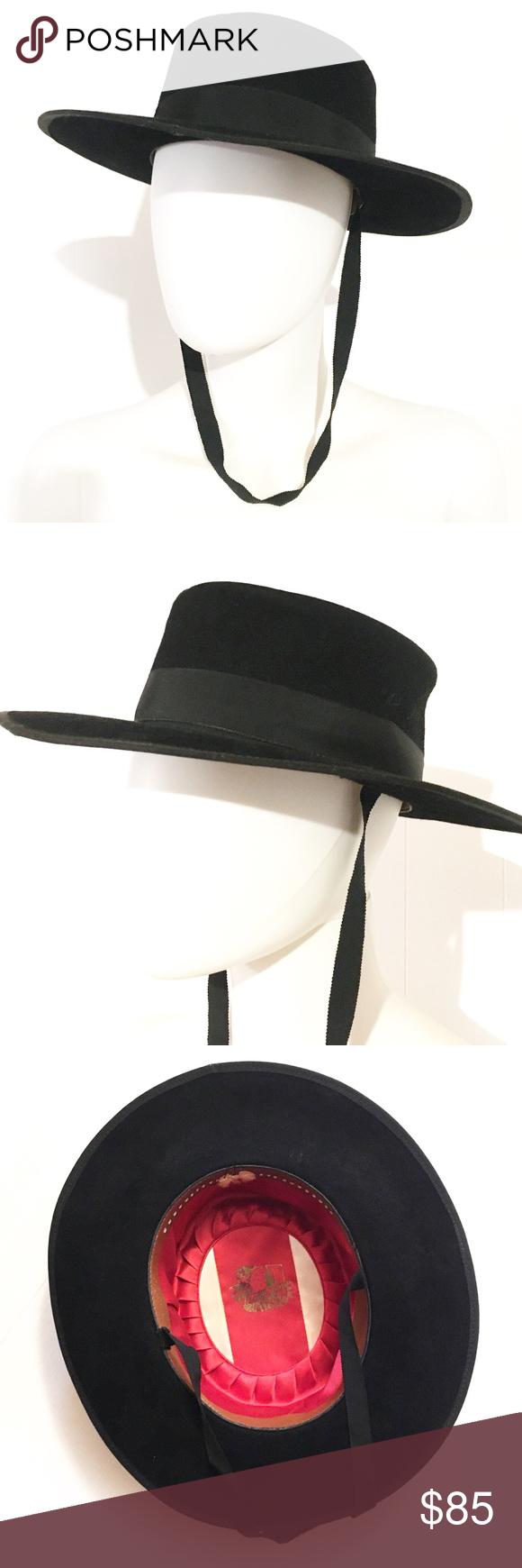 Vtg Bolero Or Gaucho Hat Spanish Boho Rocker Hat The Bolero Or Gaucho Or Portuguese Riding Hat Is A Handmade Spanish Style Flat Gaucho Bolero Hats Vintage