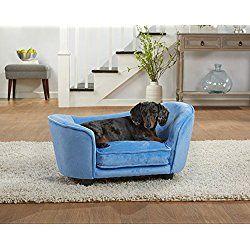 enchanted home pet ultra plush snuggle dog sofa bed light blue