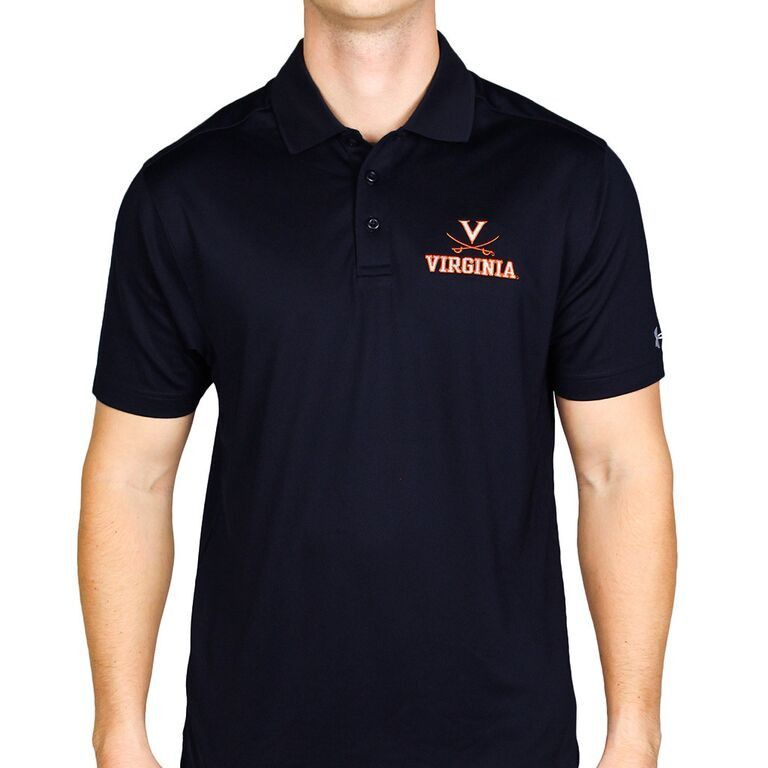 Virginia Cavaliers Performance Golf Polo in Navy by Under Armour