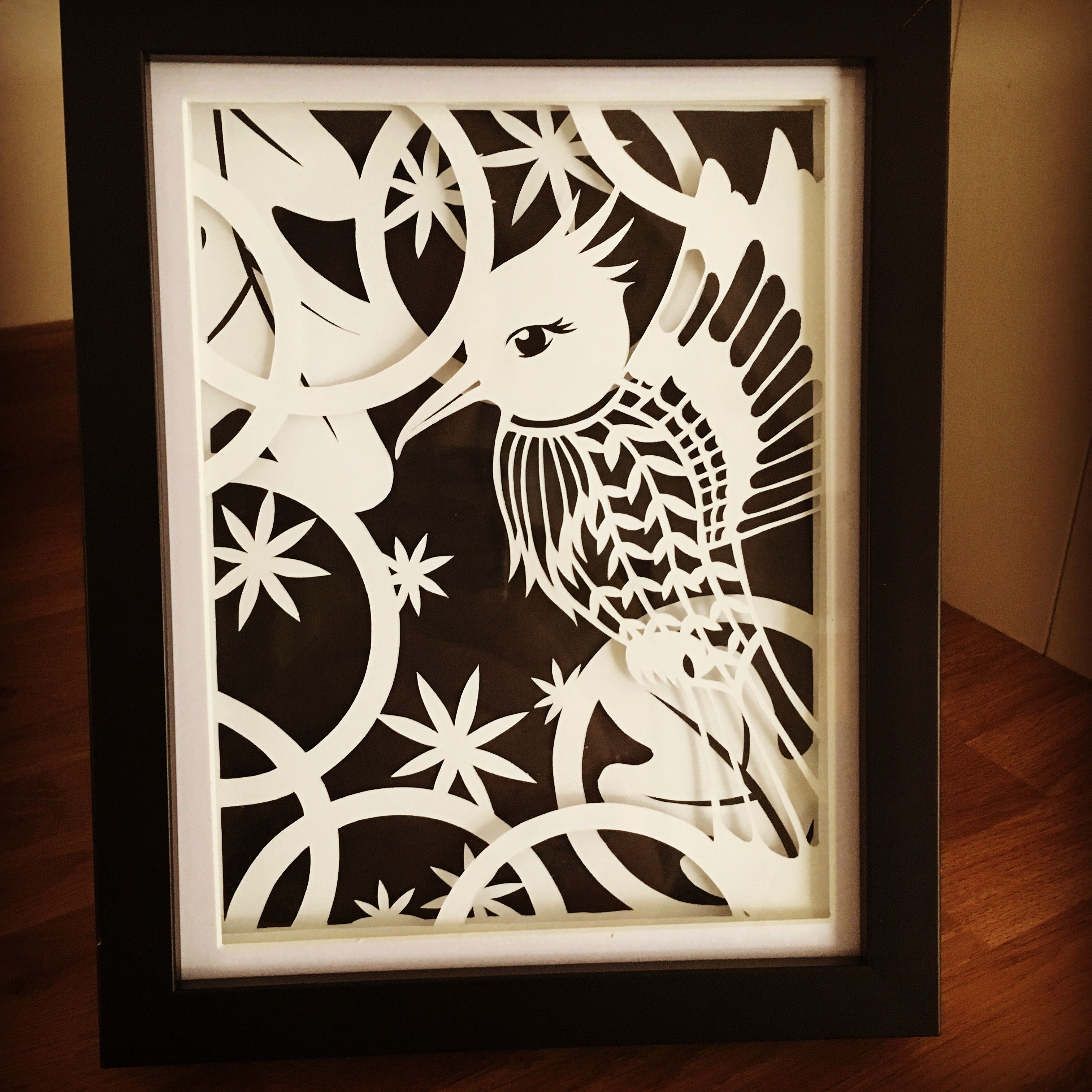 3D Paper Cut Art  A5  Framed #Crafts By Kate J