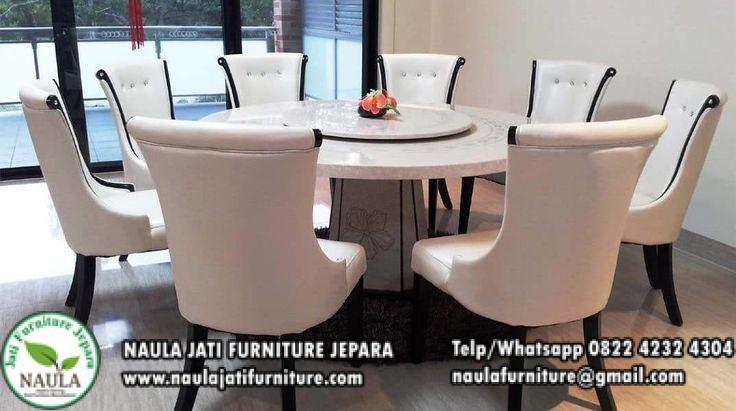 Jual Meja Makan Marmer Bulat Putar Mewah 8 Kursi Terbaru 2019 Kursi Makan Marmer Putih Naula Jati Furniture Meja Makan Bulat Rumah Nyaman Kursi Meja Makan