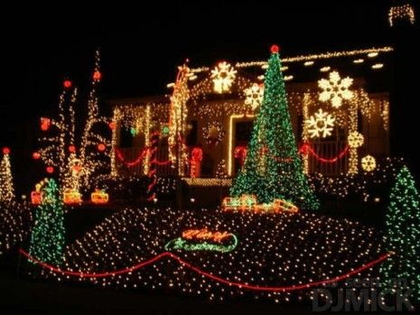 Obnoxious Xmas Light Decorations   Christmas lights ...