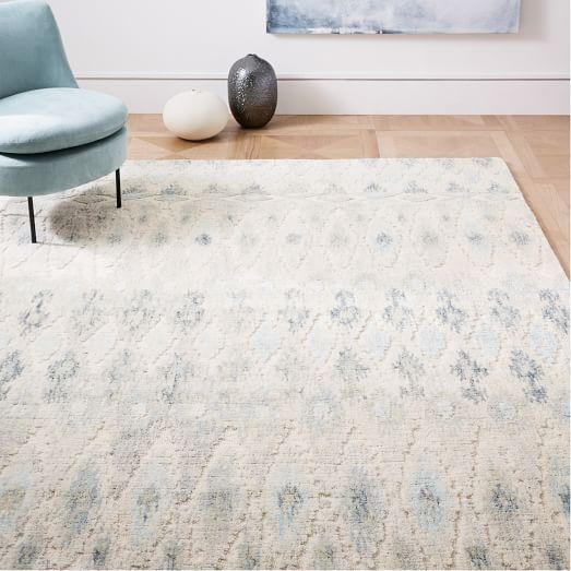 Distressed Foliage Rug Moonstone 5 X8 Room Rugs Rugs In