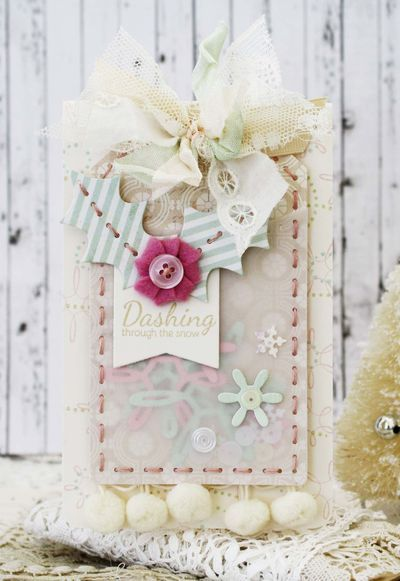 Dashing Through The Snow Card by Melissa Phillips for Papertrey Ink (October 2014)