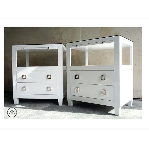 Best Built2Order Pair Of Lacquered Modern Nightstands With 400 x 300