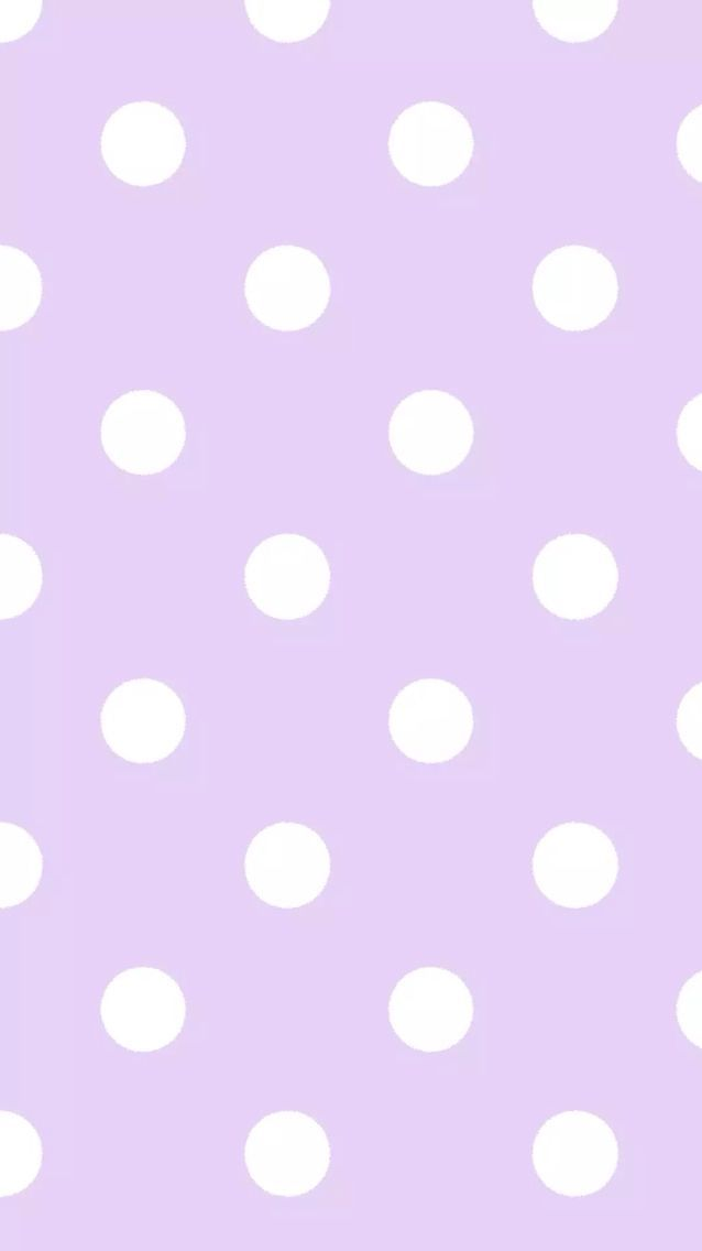 Lilac white polka dots spots iphone wallpaper background for Polka dot wallpaper