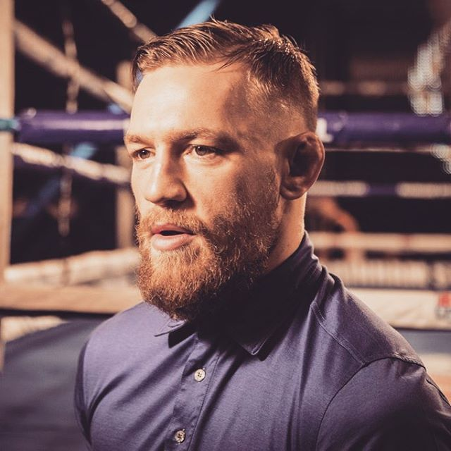Side Part With Faded Sides Mcgregor Haircut Conor Mcgregor Hairstyle Conor Mcgregor Haircut