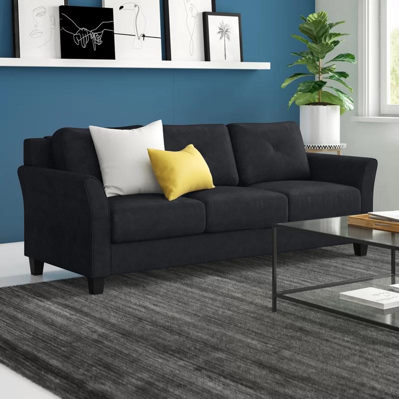 Ibiza Microfiber 80 3 Flared Arm Sofa In 2020 Furniture Best Sofa Nook Dining Set