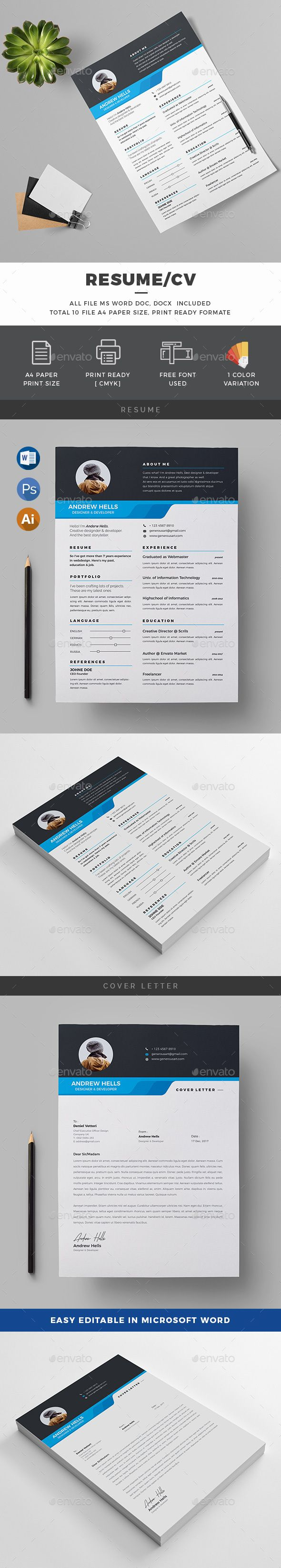 Resume | Template, Ai illustrator and Resume cv