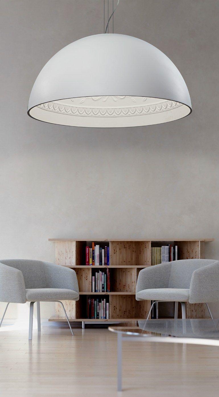 Gypsum pendant lamp chiarodì collection by metal lux di baccega r
