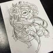 Resultat De Recherche D Images Pour Santa Muerte Dessin Tattoo