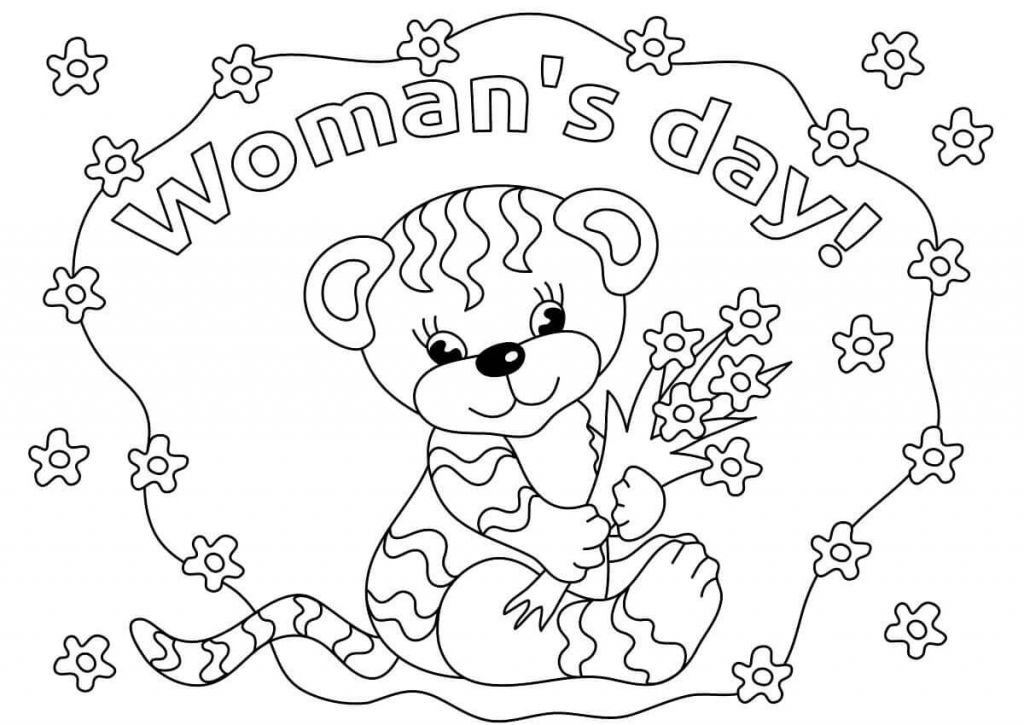 Free Printable International Womens Day Coloring Pages