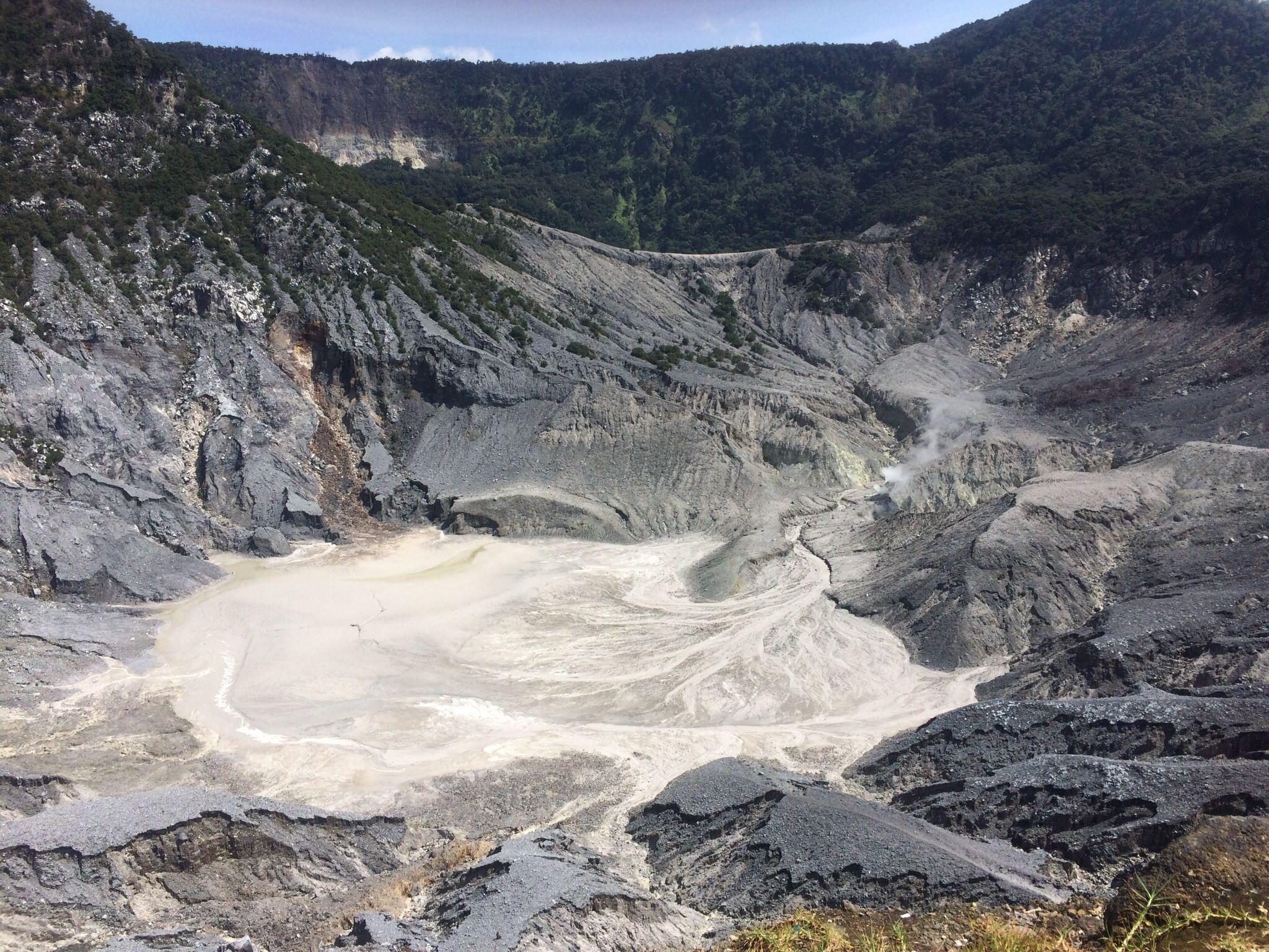 Ratu Crater of Tangkuban Parahu Mount, Bandung, West Java, Indonesia