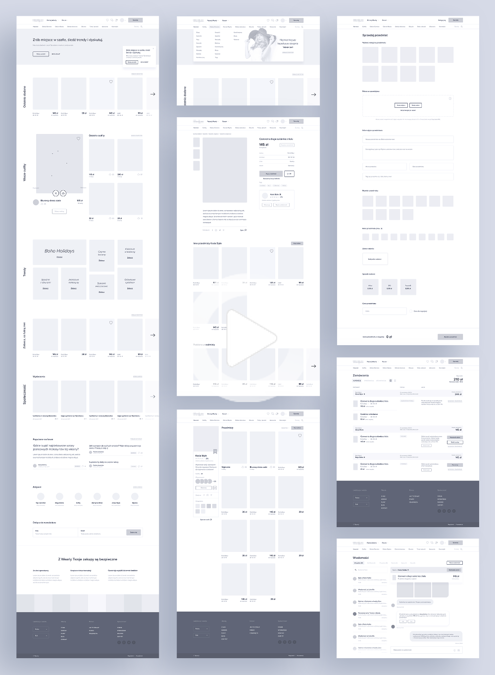 Website App Wireframe Examples For Creating A Solid Ux Design In 2020 App Wireframe Web Layout Design Wireframe Design