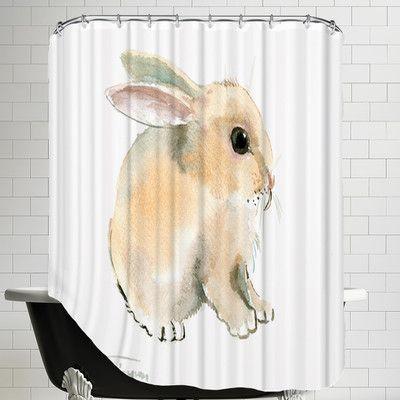 East Urban Home Bunny Single Shower Curtain Curtains Shower Bunny