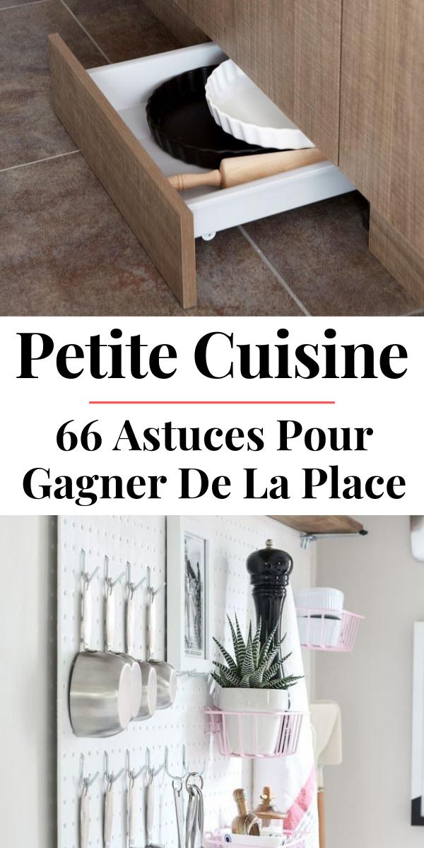 66 Astuces pour aménager et optimiser l'espace dans une petite cuisine #amenagementmaison
