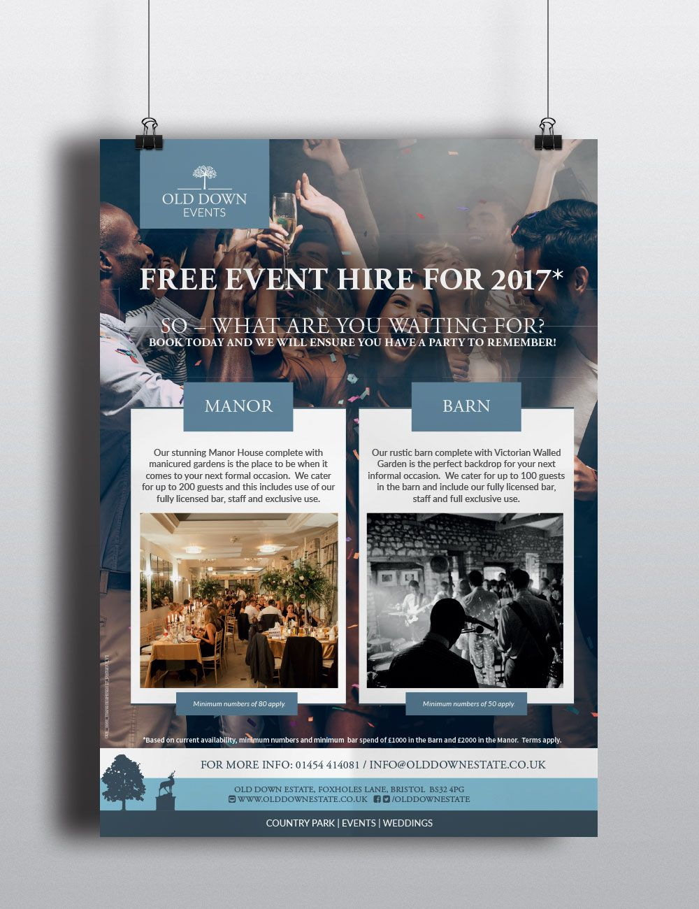 Poster design in indesign -  Design Down Event Free Hire Indesign Old Old