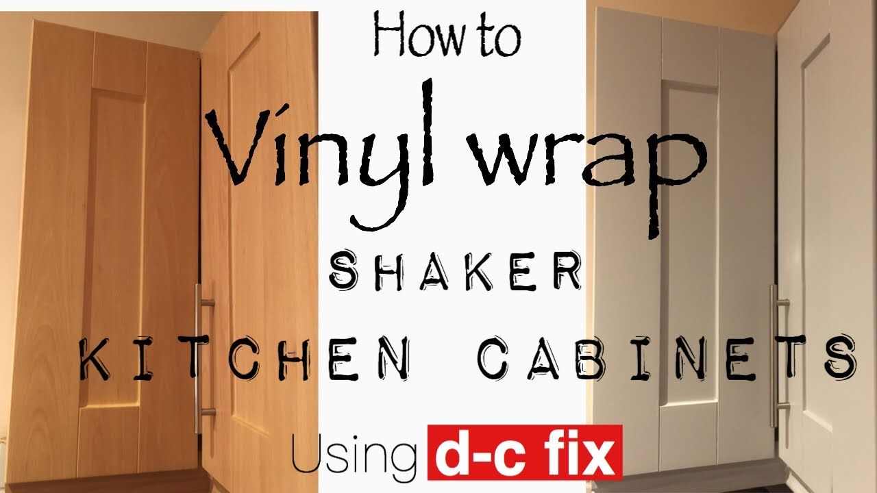 Vinyl Wrap Kitchen Cabinet Doors Using Fablon D C Fix Youtube In 2020 Vinyl Wrap Kitchen Diy Cabinet Doors Kitchen Cabinets Wrapped