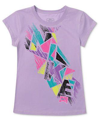 8826b0f5 Nike Kids T-Shirt, Girls Action Logo Graphic Tee - Kids Girls 7-16 - Macy's