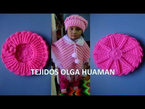 Boina tejido a crochet para bebe o niña video 1 - YouTube | yeya ...