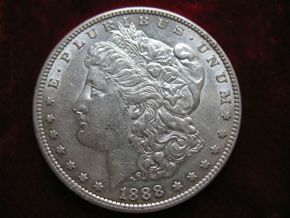 1888S 1 Silver Dollar ALMOST UNCIRCULATED BEAUTY