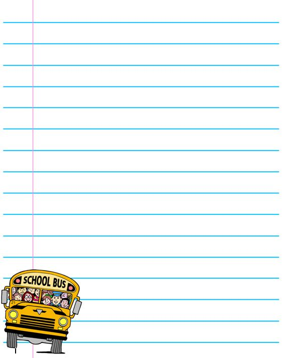 School Printouts Back to school writing paper ✍✄Printables - free handwriting paper template