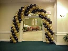 Black And Gold Balloon Arch Decoration Anniversaire Decoration Noir Decoration Cinema