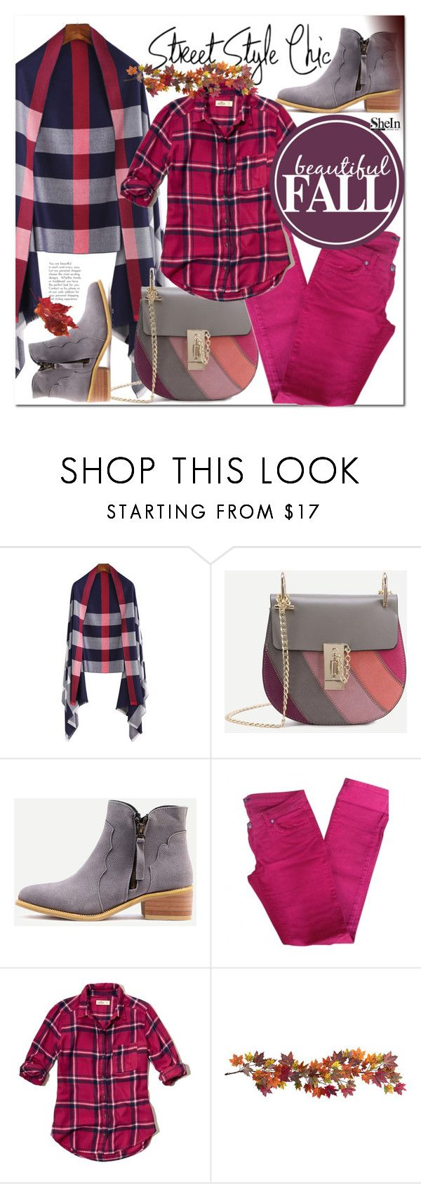 """Shein 7"" by e-mina-87 ❤ liked on Polyvore featuring BELAIR, Hollister Co. and Nearly Natural"