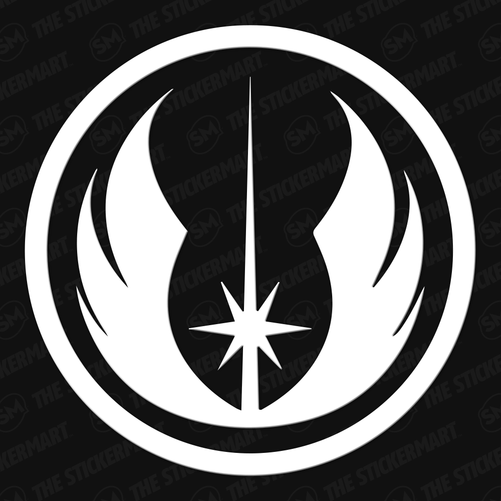 Star Wars Jedi Order Symbol Vinyl Decal Star Wars Stencil Star Wars Tattoo Star Wars Jedi