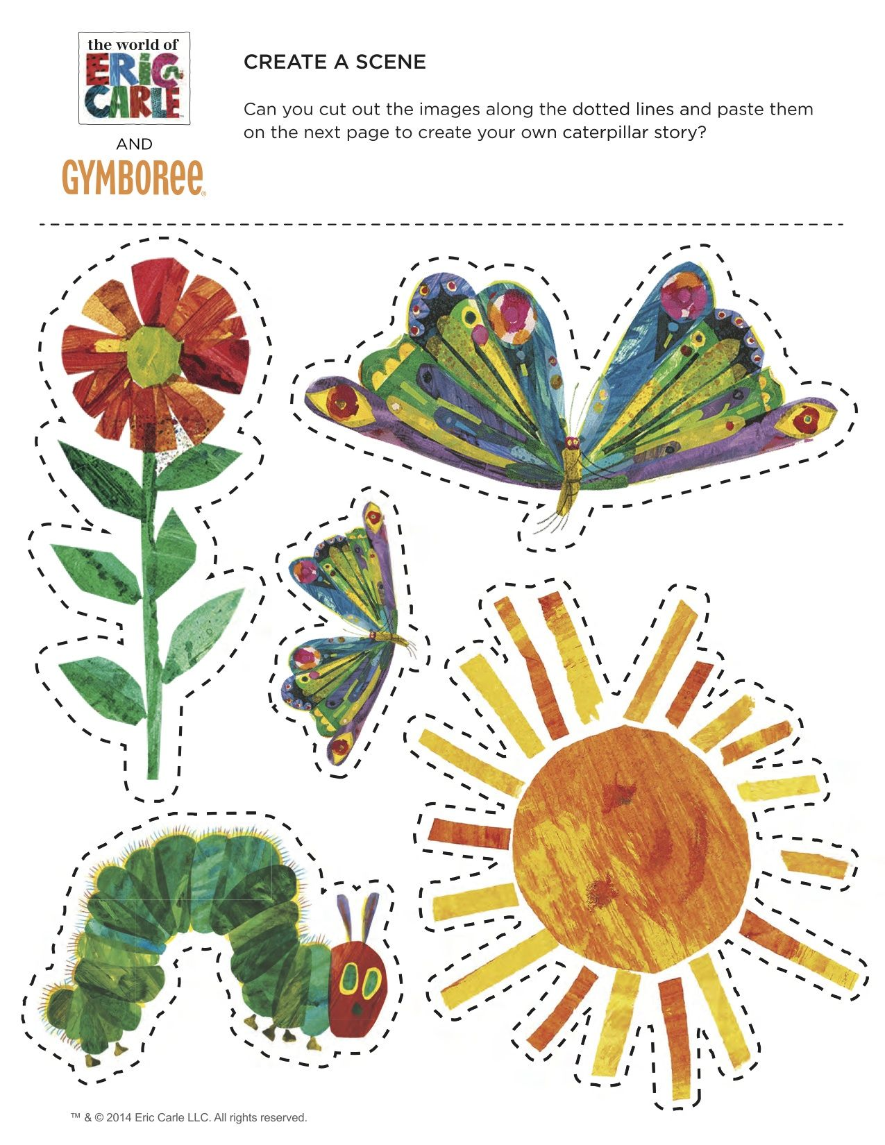 The Very Hungry Caterpillar by Eric Carle - Cut and Paste | BC ...
