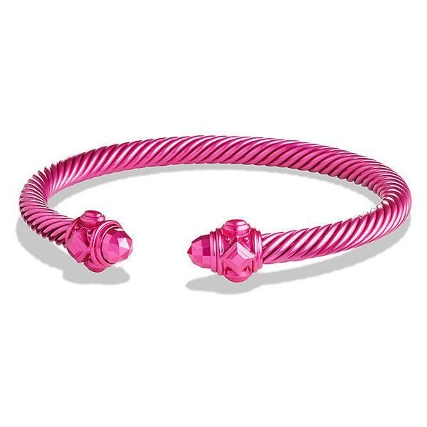 David Yurman Bracelet In Pink Aluminum 250 Liked On Polyvore Featuring Jewelry