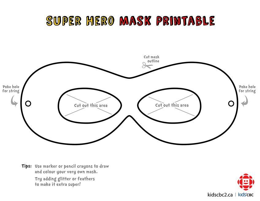Make your own super awesome superhero mask! | Super hero masks ...