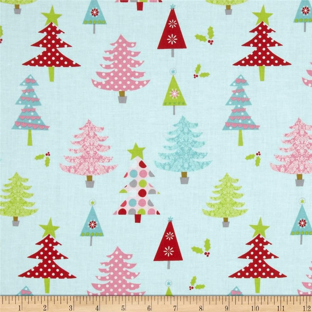 5495909a98 Riley Blake Christmas Basics Trees Blue from  fabricdotcom Designed by RBD  Designers for Riley Blake