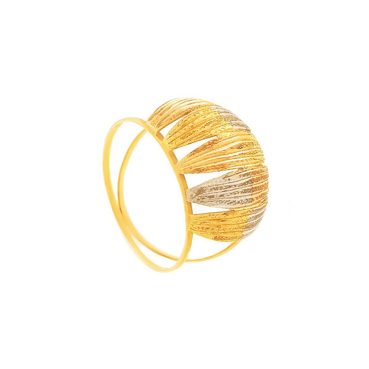 Anel De Ouro Chapas Quadradas Com 3 Cores Do Ouro Joiasdeouro