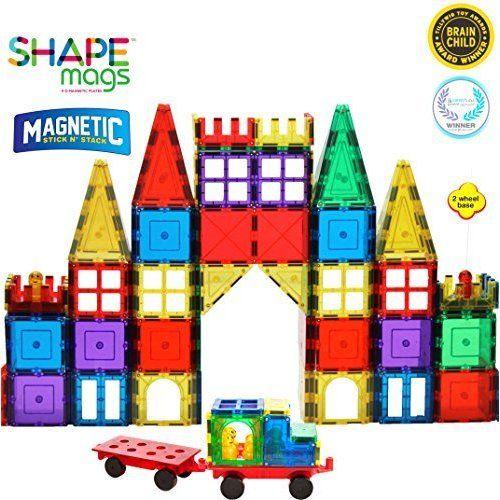 Details About Educational Children S Creative 100 Piece Clear Multi Color Magnetic Tiles Set Magnetic Tiles Creative Multi Color