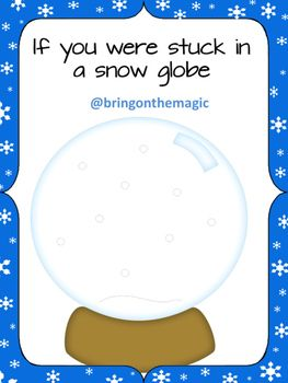Stuck in a snow globe writing activity for kindergarten