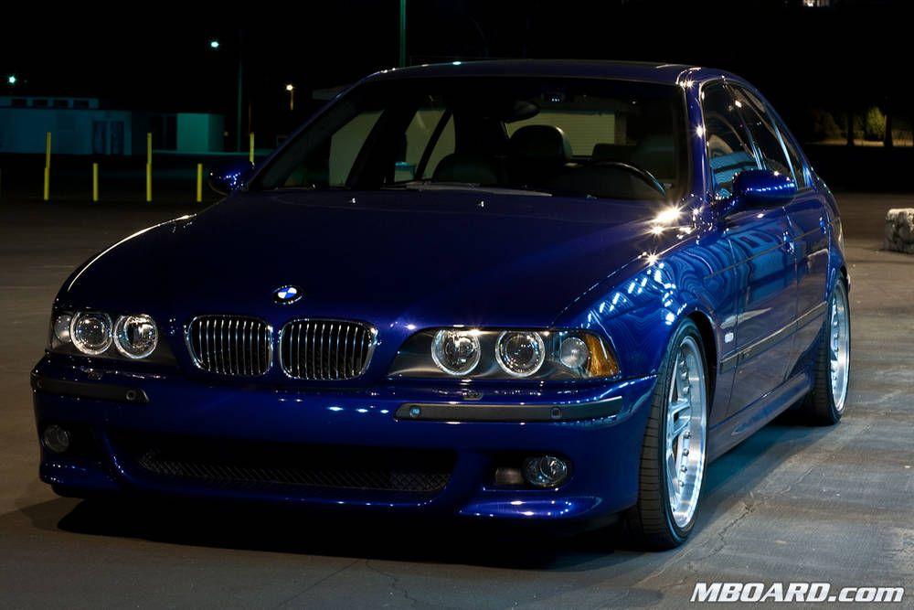 Stunning Bmw E39 M5 Deep Blue Shadowline Trim Polished Rims And