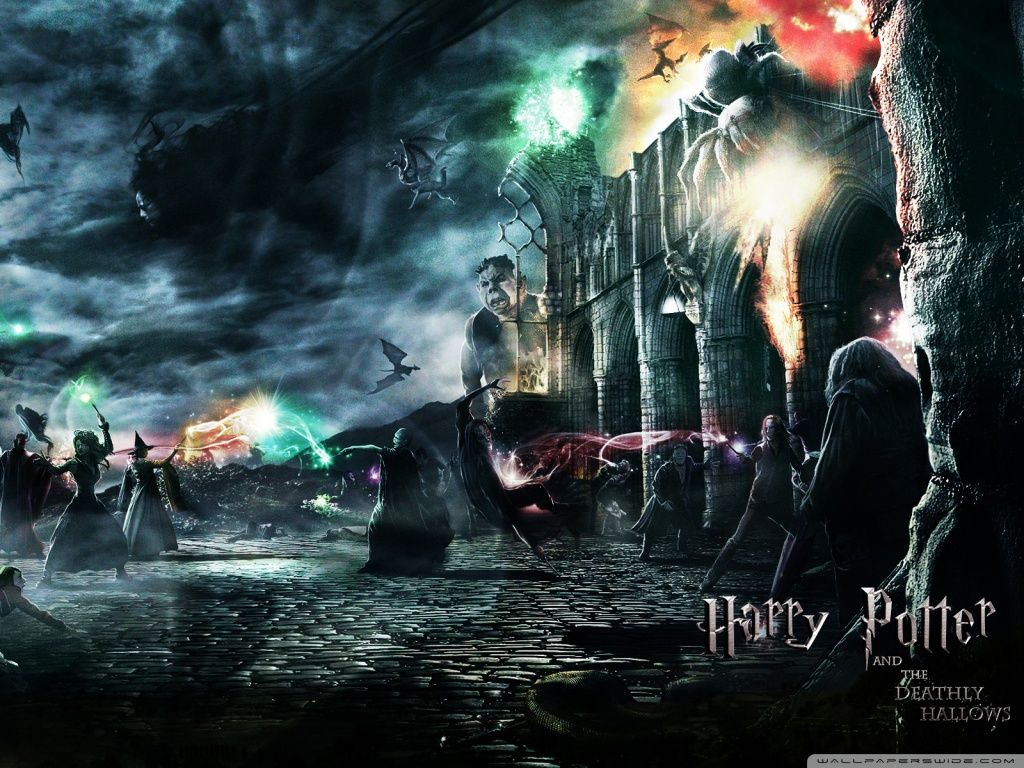Harry Potter And The Deathly Hallows Hd Desktop Wallpaper Harry Potter Wallpaper Deathly Hallows Wallpaper Harry Potter
