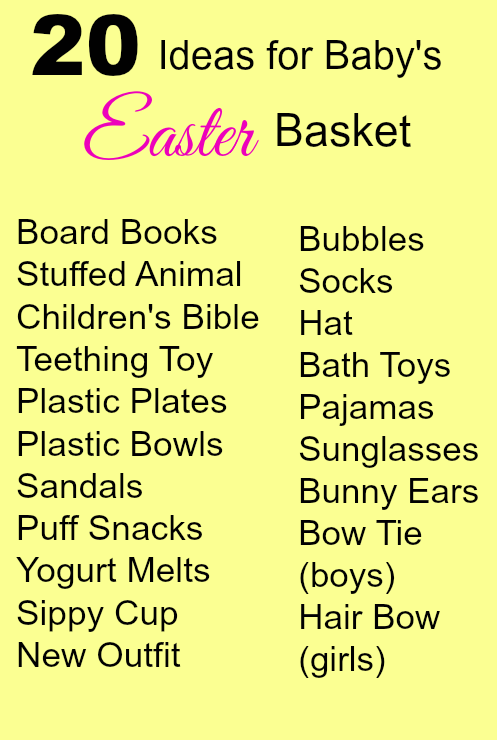 20 ideas for babys easter basket easter basket baby spring 20 ideas for babys easter basket easter basket baby negle Images