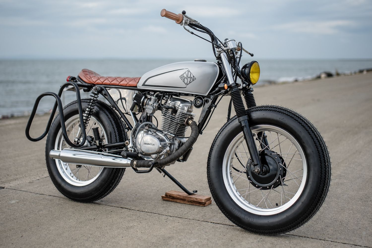 Honda Tmx 155 Brat By Revolt Cycles Surf Bike Honda Cafe Racer Bikes