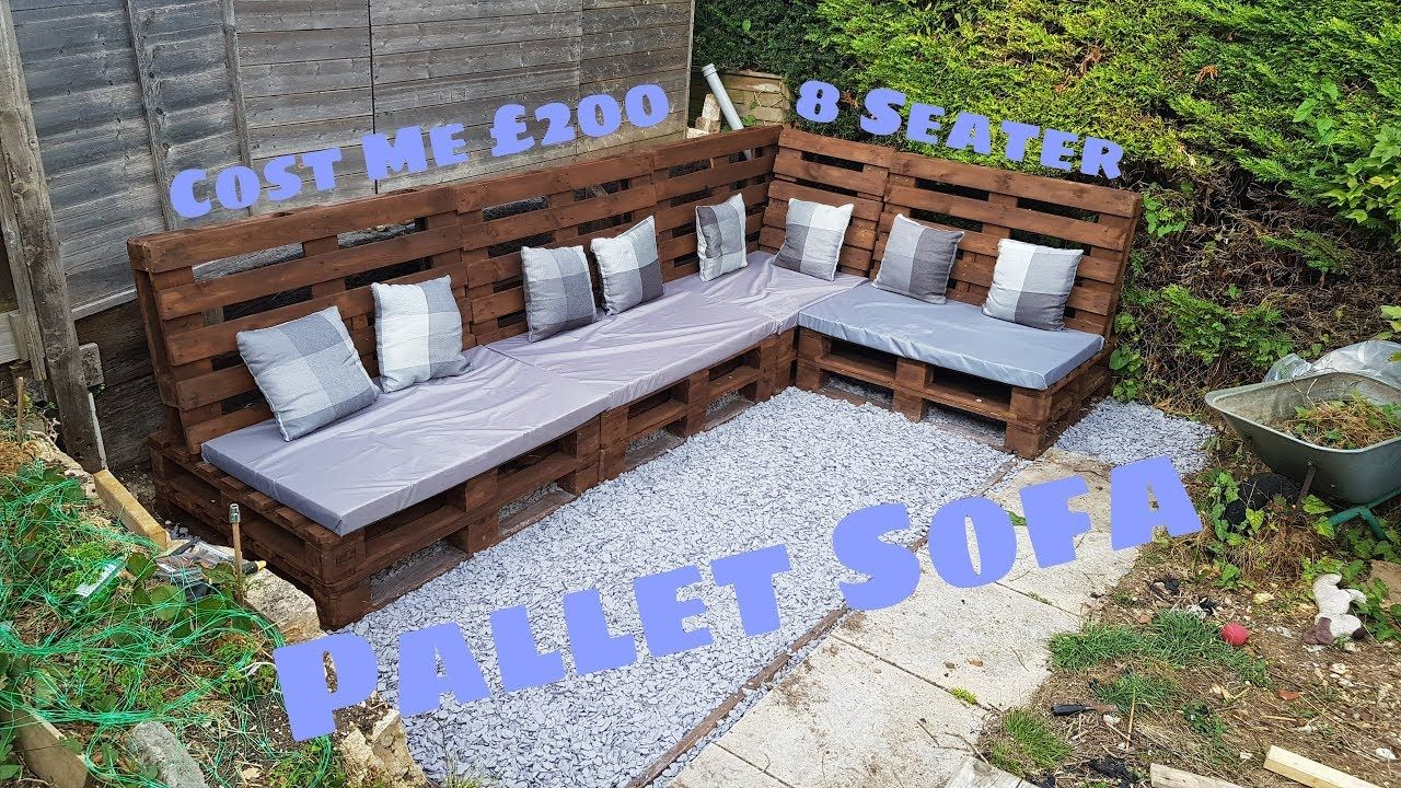 HOW I MADE A (SIMPLE) PALLET SOFA (TRANSFORMATION) (With