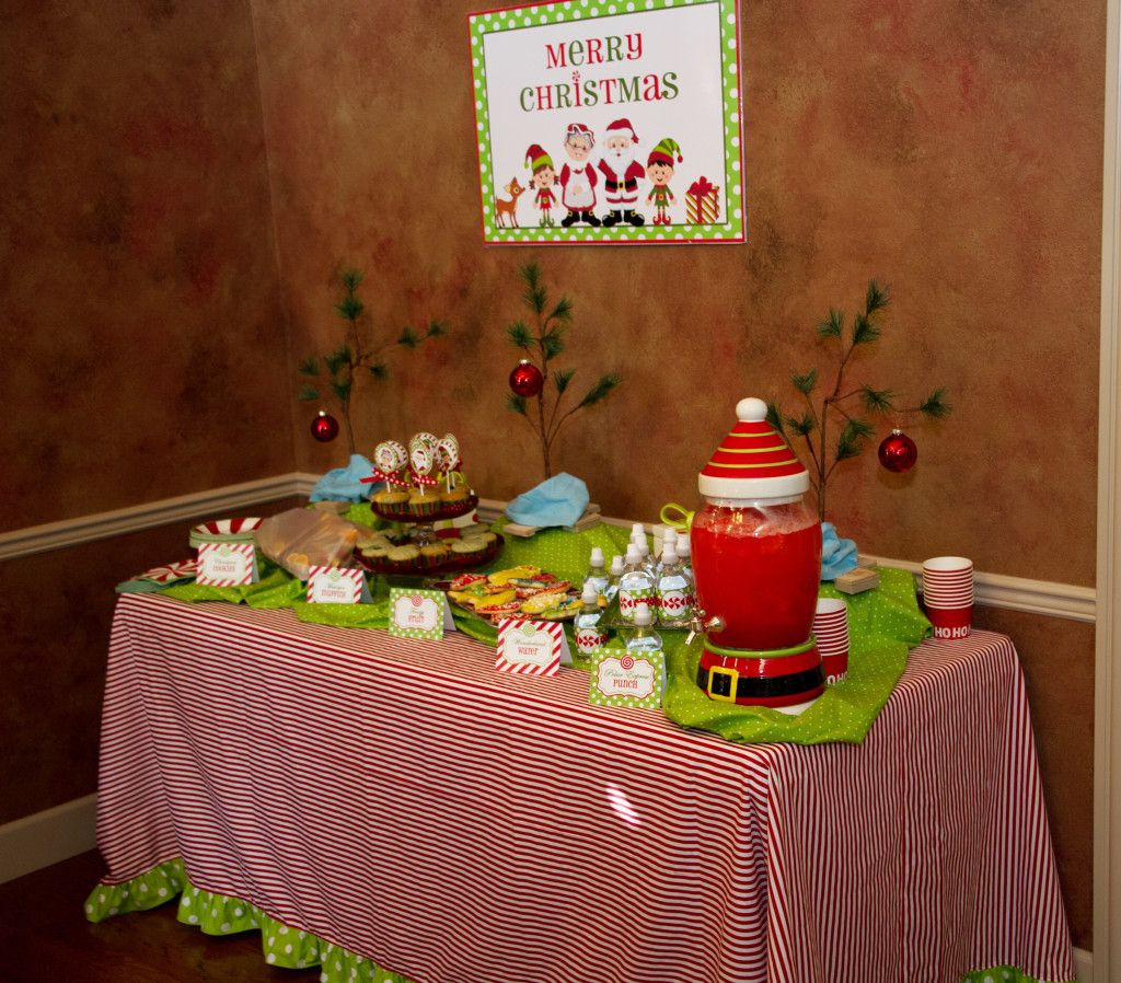 Cookie decorating party ideas - Christmas Cookie Decorating Party Refreshment Table For More Ideas And Details Of This Adorable Party