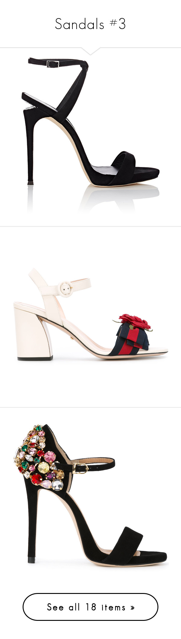 """""""Sandals #3"""" by ngkhhuynstyle ❤ liked on Polyvore featuring shoes, sandals, heels, shoes - heels, zanotti, black, embellished sandals, ankle strap sandals, black stilettos and black criss cross sandals"""