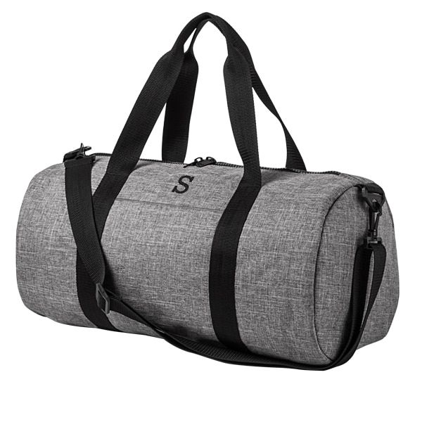 ce407f78a7fd There s nothing wrong with going grey when you get to carry this handsome  gray and black duffle bag to and from the wedding party festivities.